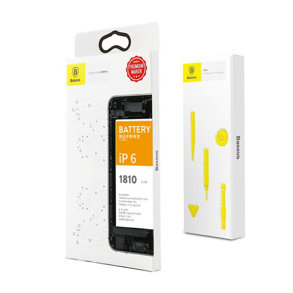 Baseus eredeti kapacitású akkumulátor iPhone 6-hoz, 1810 mAh (ACCB-AIP6)
