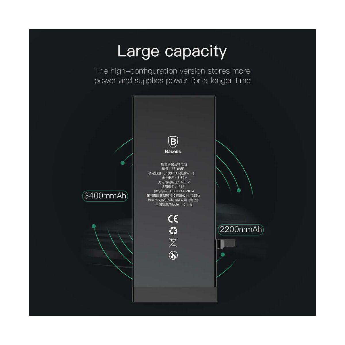 Baseus eredeti kapacitású akkumulátor iPhone 8 Plus-hoz 3400 mAh (ACCB-BIP8P)