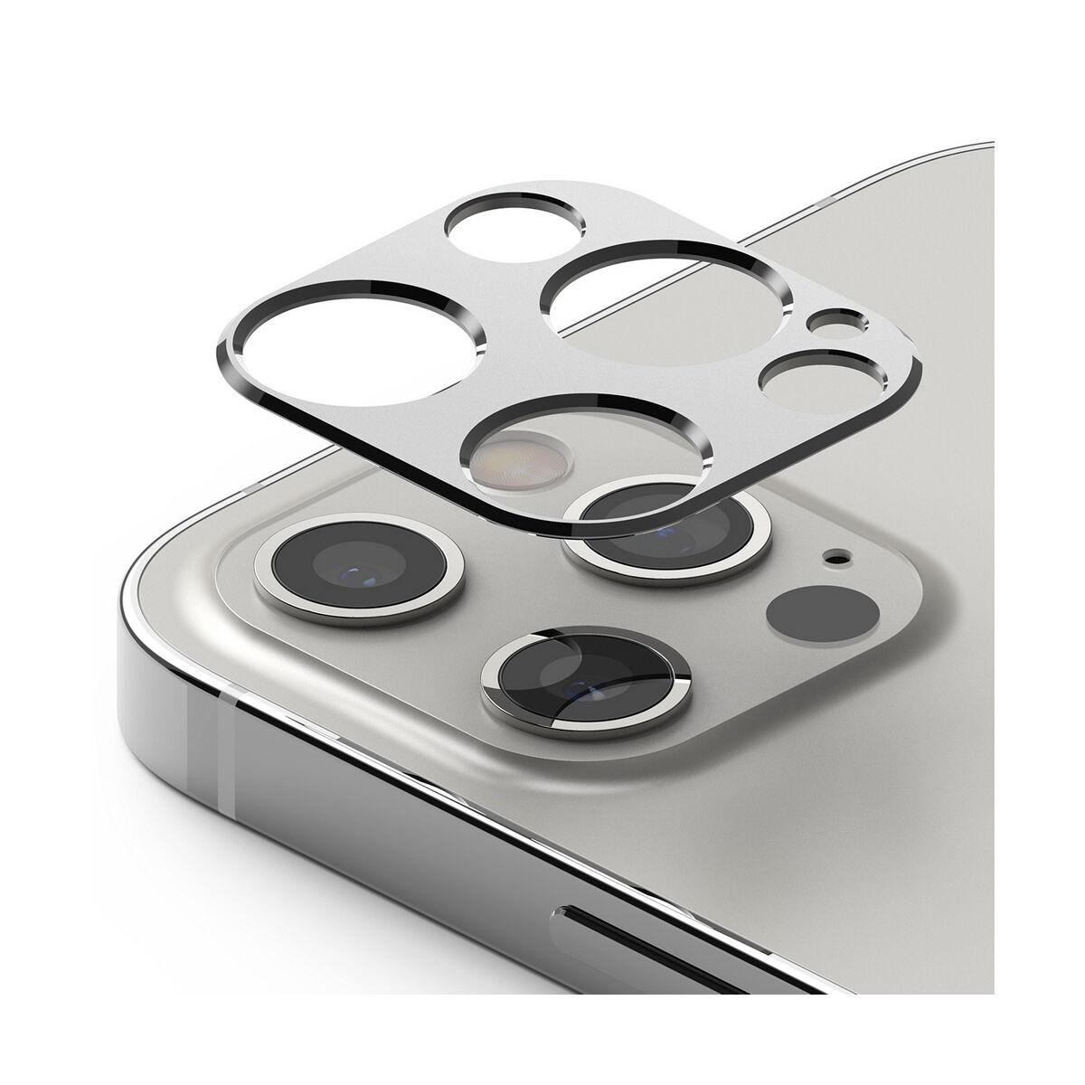 Ringke iPhone 12 Pro/12 Pro Max, Camera Stlying, kamera sizget védő keret, Ezüst