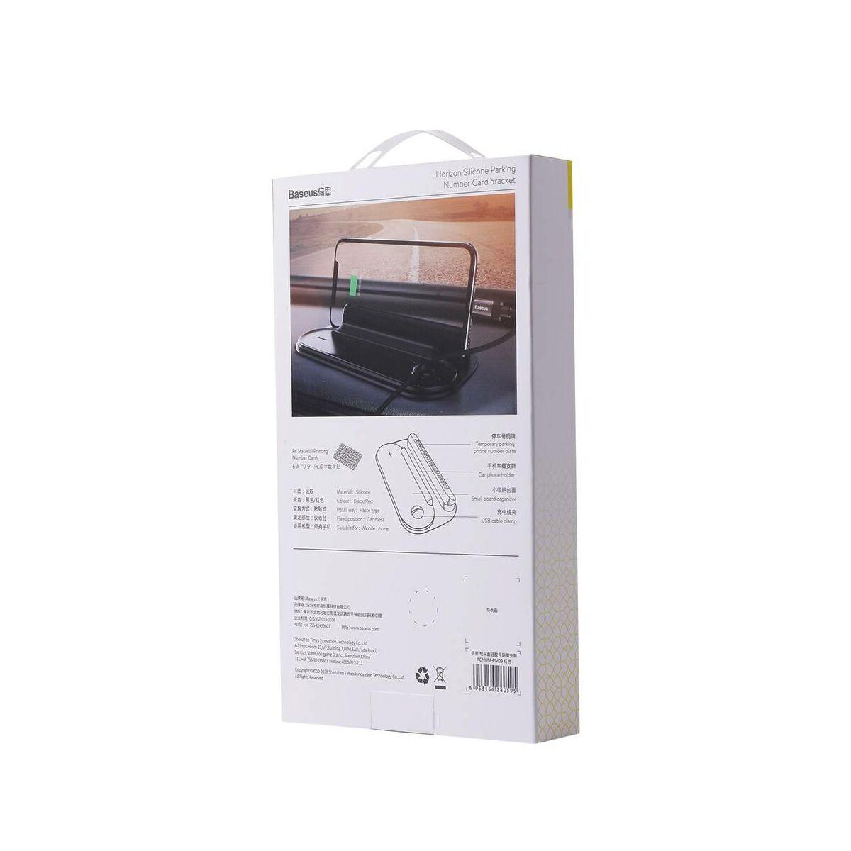 Baseus autós kiegészítő Horizon Silicone telefonszám kijelző műszerfalra parkoláshoz, piros (ACNUM-PM09)