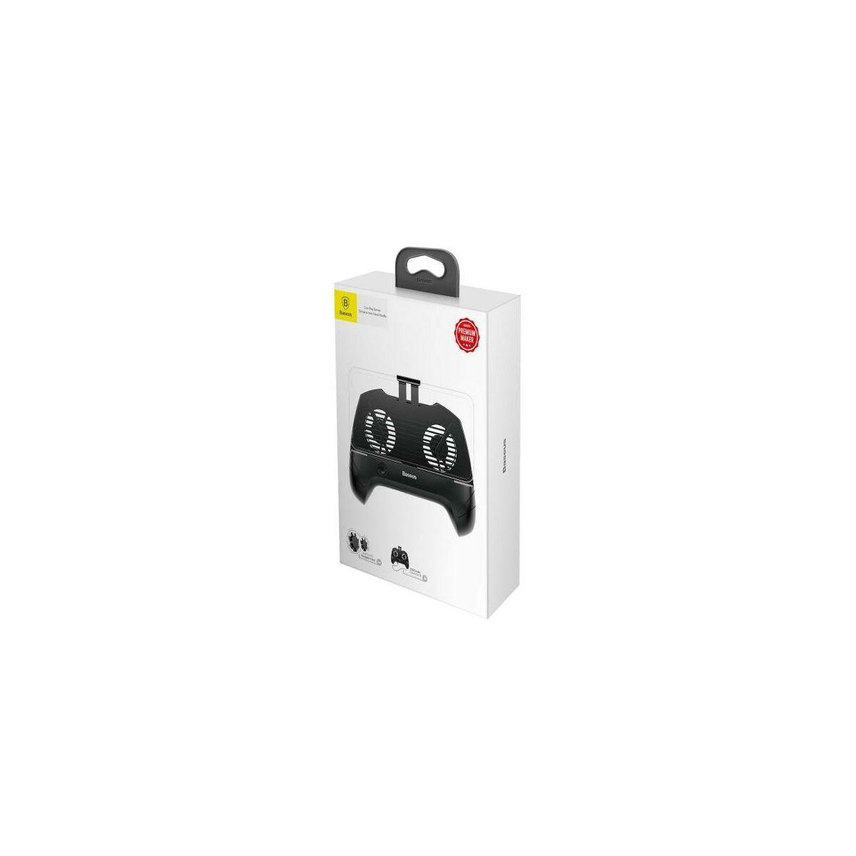 Baseus játék eszköz Cool Play Games hőelvezetős telefon tartó, fekete (ACSR-CW01)