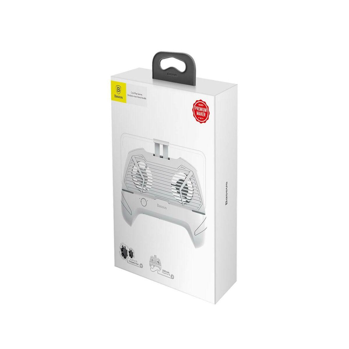 Baseus játék eszköz Cool Play Games hőelvezetős telefontartó, fehér (ACSR-CW02)