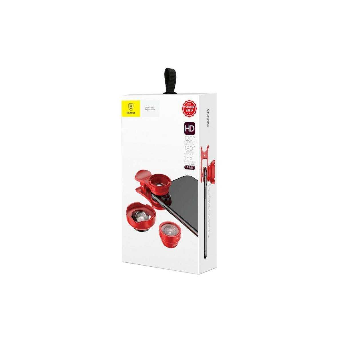 Baseus kamera optika mobilhoz Short Videos Magic (Hi-definition), piros (ACSXT-A09)