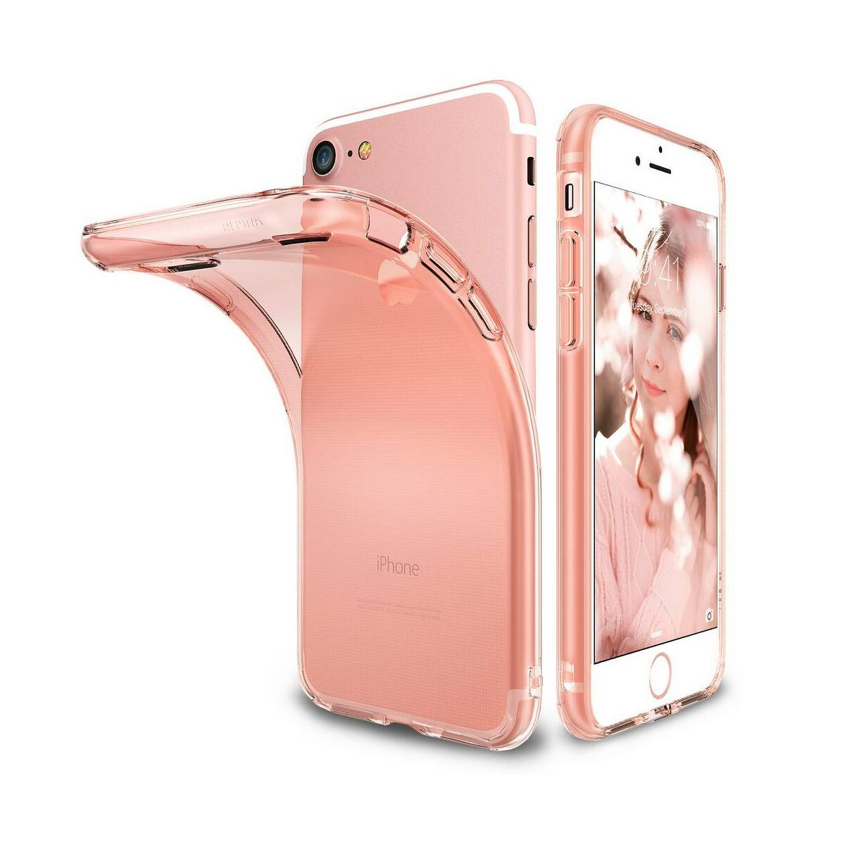 Ringke iPhone 7/8 tok, Air, rózsaarany