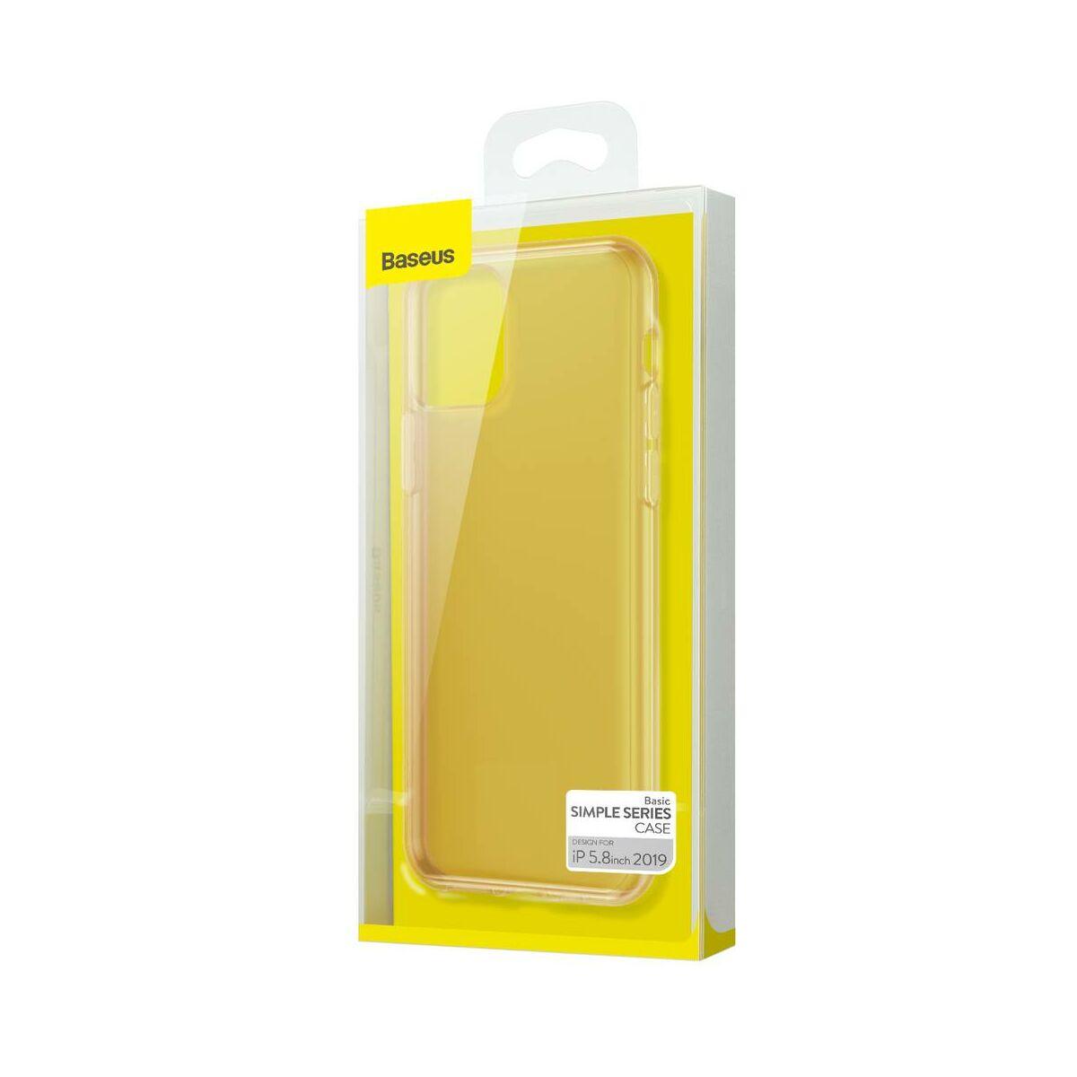 Baseus iPhone 11 Pro tok, Simplicity Series (basic model), átlátszó arany (ARAPIPH58S-0V)