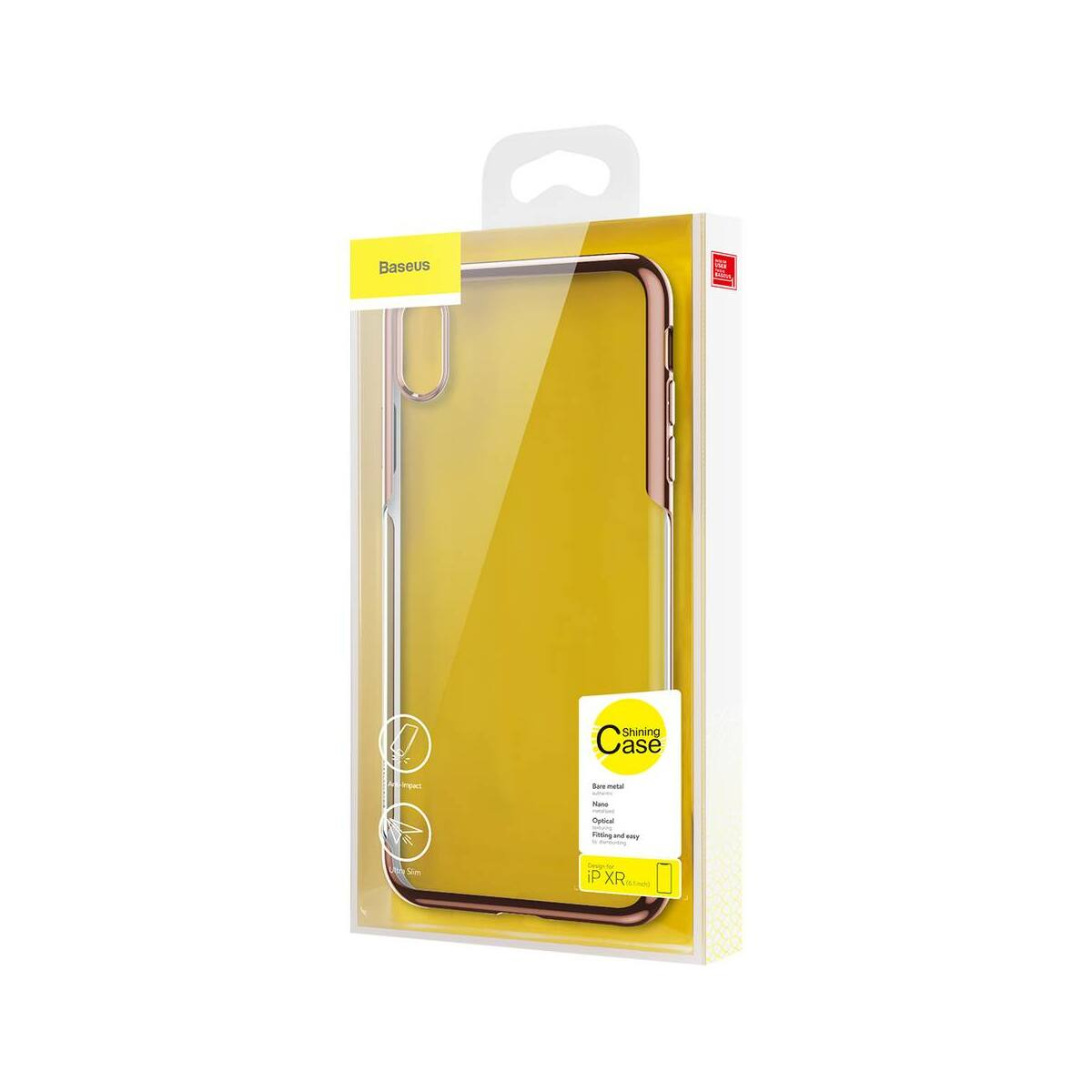 Baseus iPhone XR tok, Shining, arany (ARAPIPH61-MD0V)