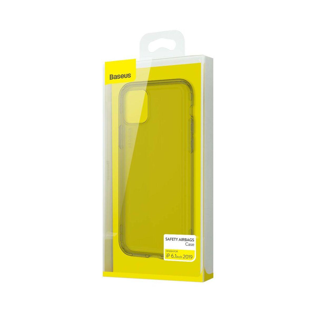 Baseus iPhone 11 tok, Safety Airbags, átlátszó fekete (ARAPIPH61S-SF01)