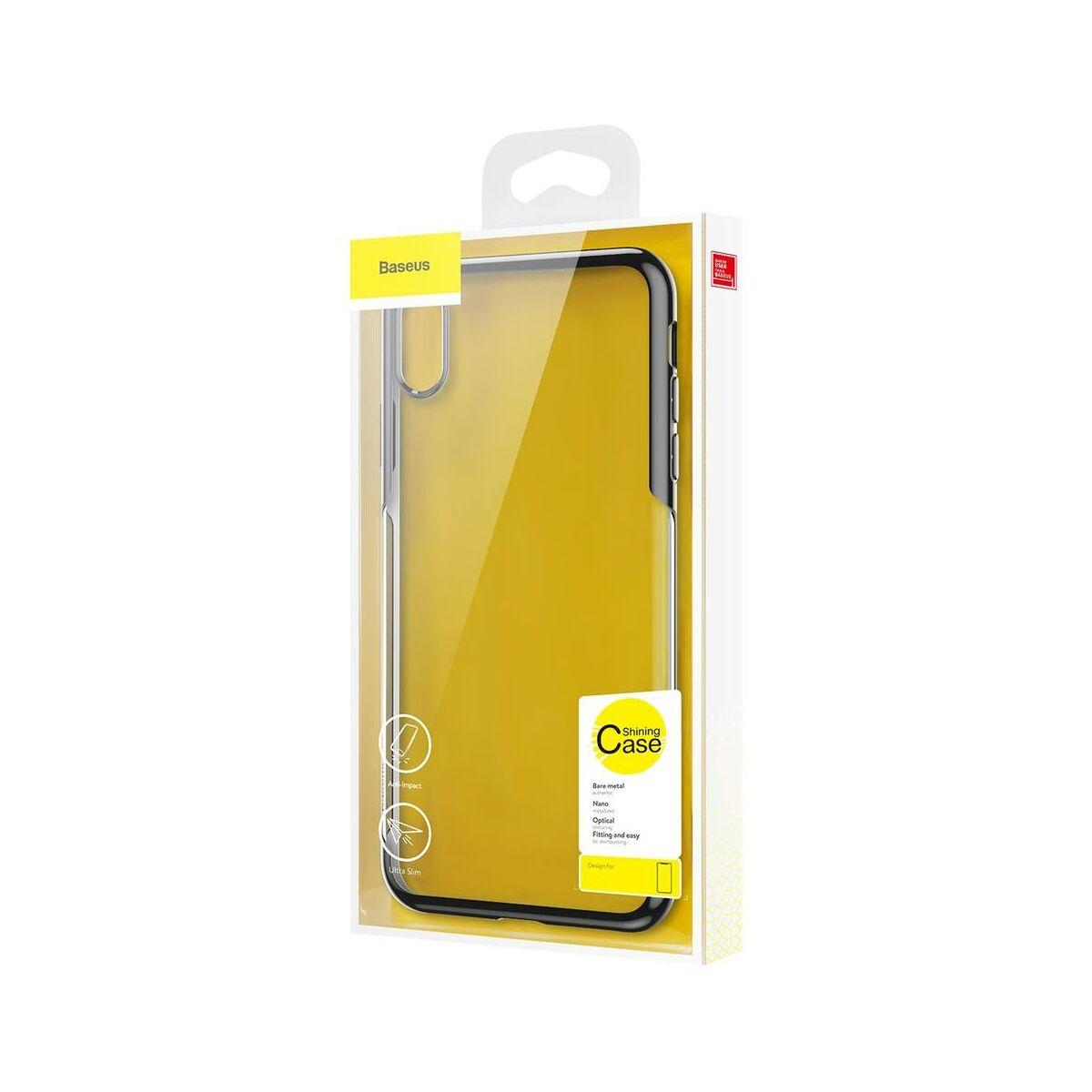 Baseus iPhone X/XS tok, Shining, asztro szürke (ARAPIPHX-MD0G)