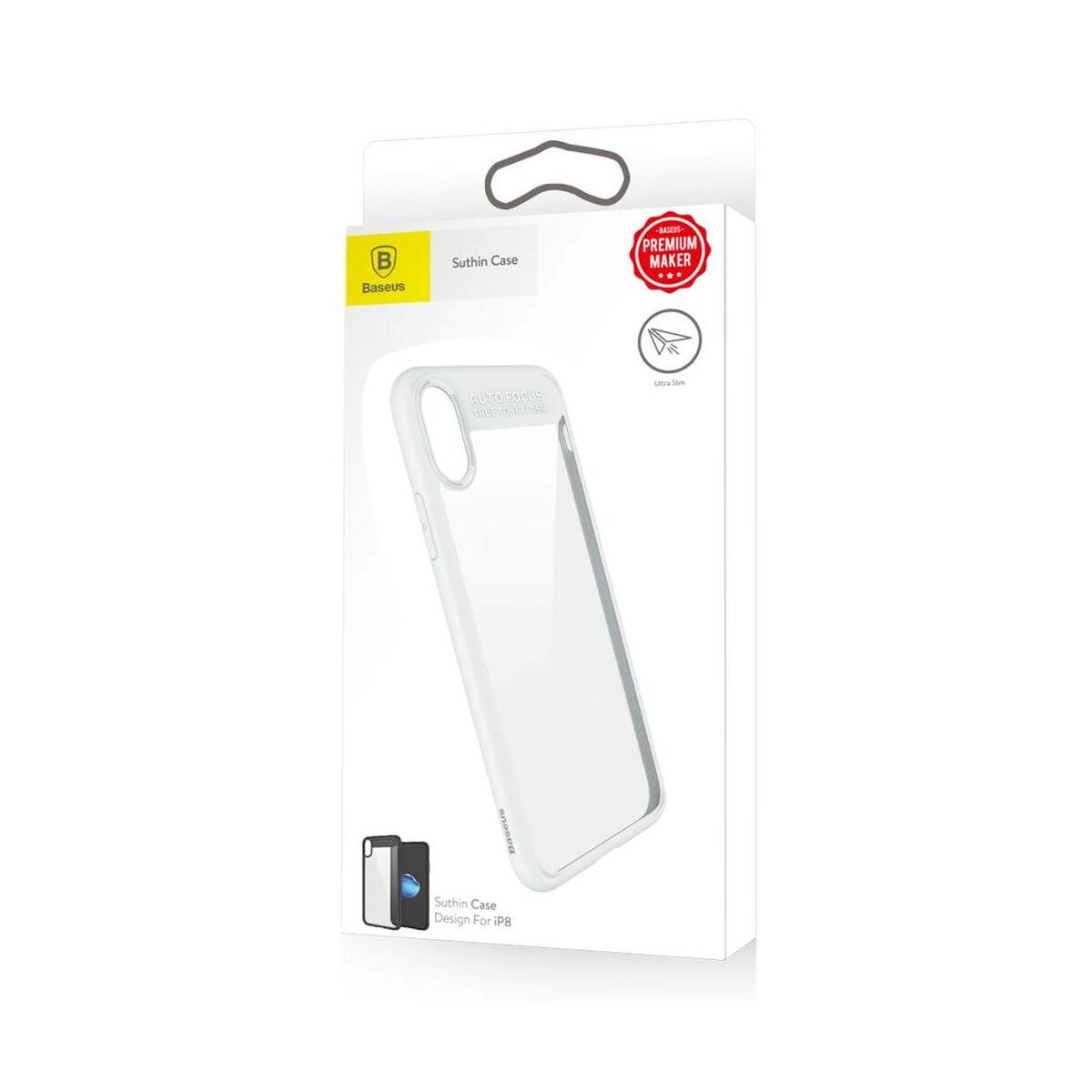 Baseus iPhone X/XS Suthin tok, Thin, fehér (ARAPIPHX-SB02)