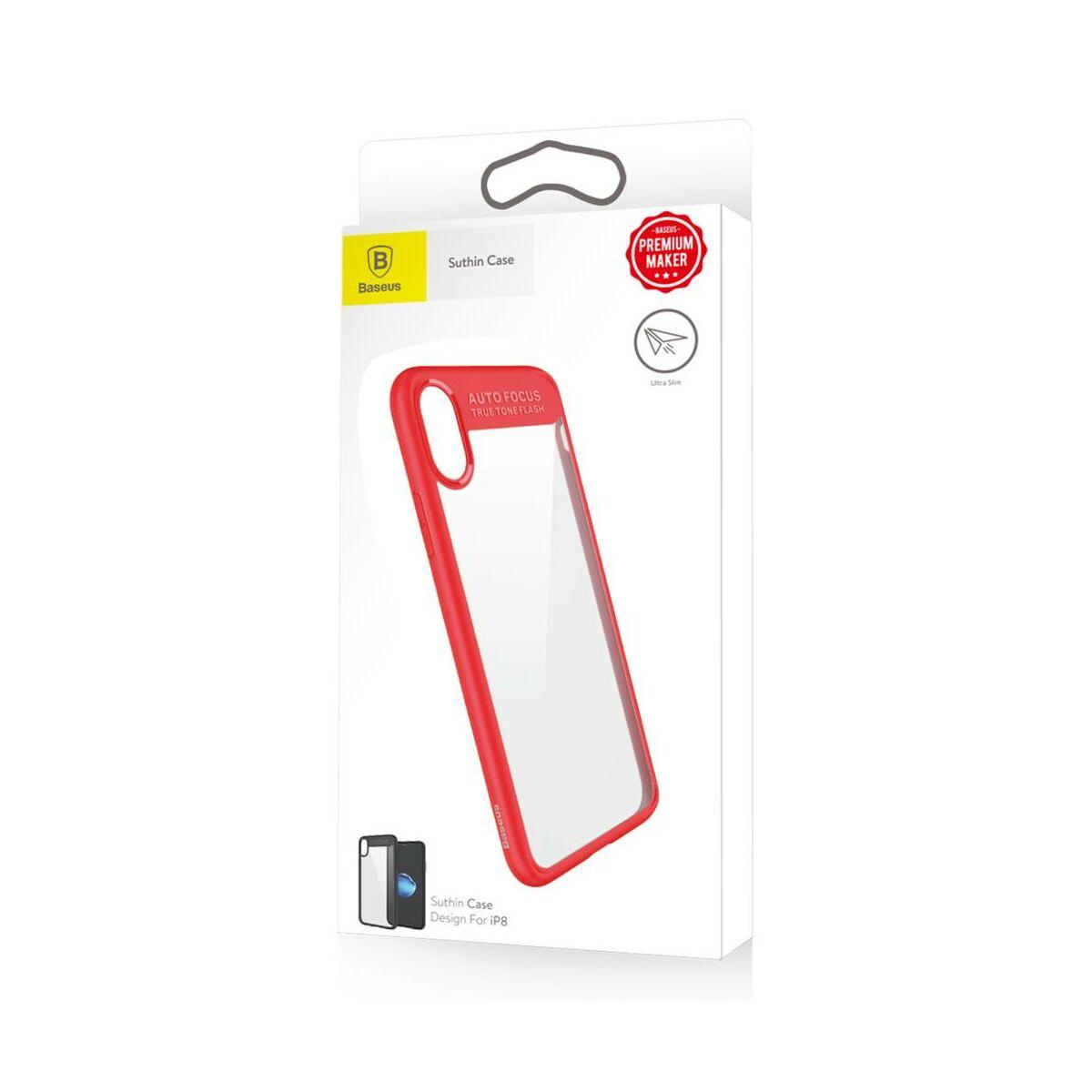 Baseus iPhone X/XS tok, Suthin, Thin, piros (ARAPIPHX-SB09)