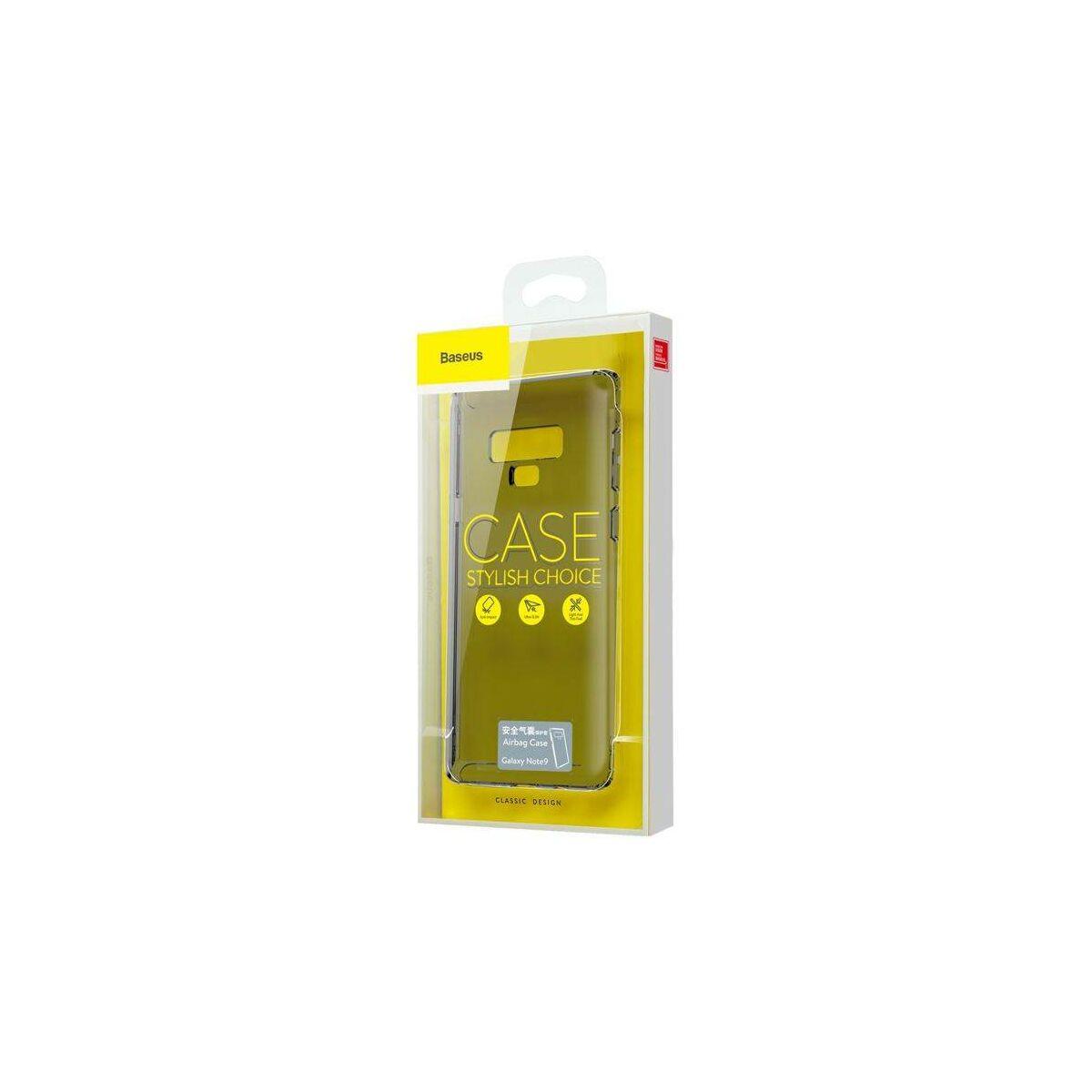 Baseus Samsung Note 9 tok, Safety Airbags, átlátszó fekete (ARSANOTE9-SF01)