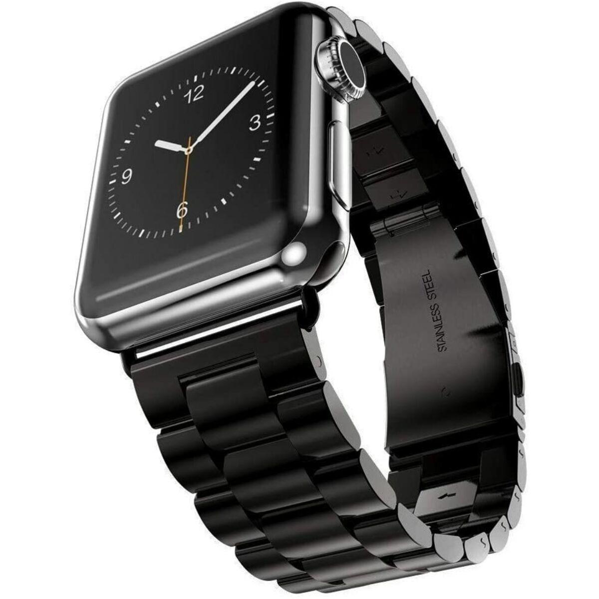 Ringke Apple Watch óraszíj 38 mm/40mm, Metal One Stainless Steel, fekete