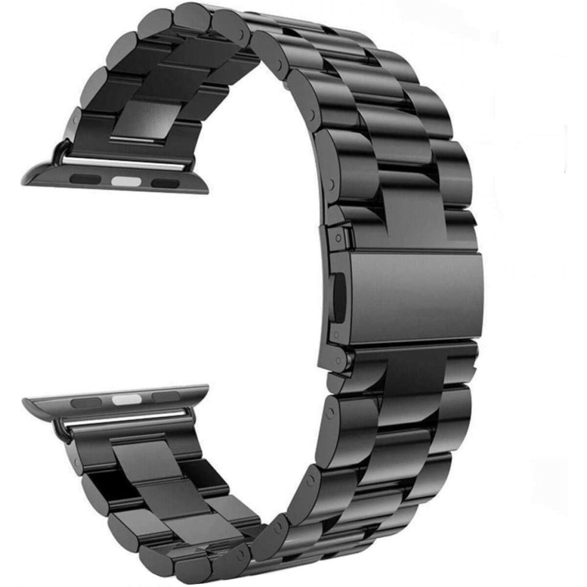 Ringke Apple Watch óraszíj 42 mm/44 mm, Metal One Stainless Steel, Fekete