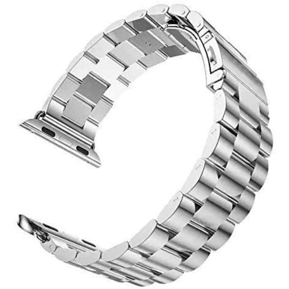 Ringke Apple Watch óraszíj 42 mm/44 mm, Metal One Stainless Steel, ezüst