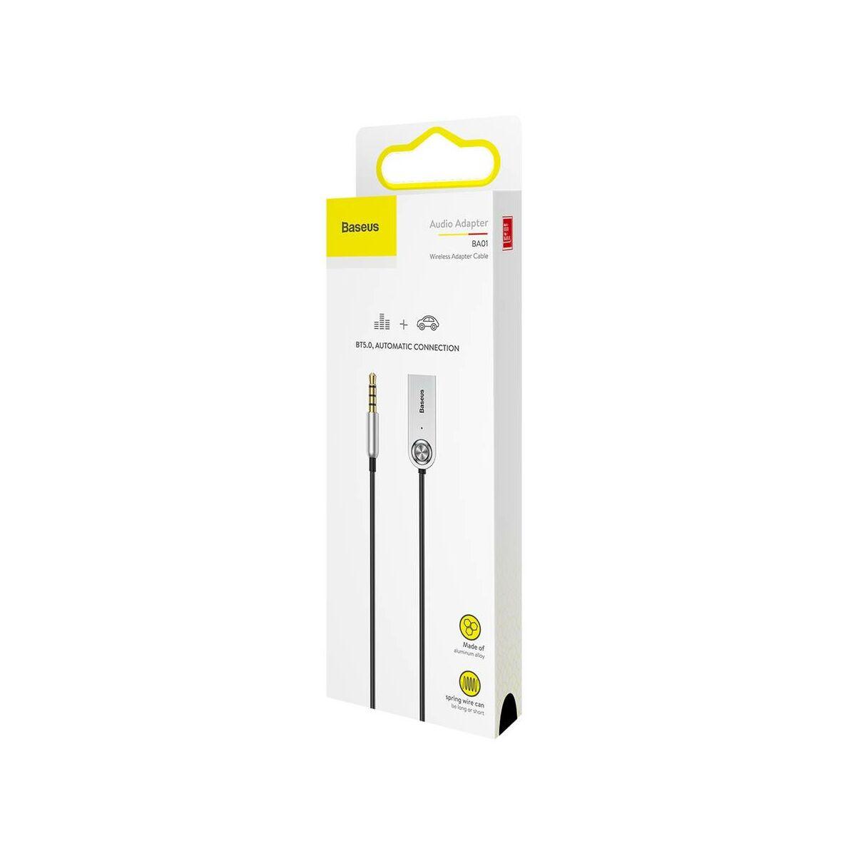 Baseus átalakító kábel, BA01 USB + vezeték nélküli adapterről 3.5 mm Jack bemenetre, fekete (CABA01-01)