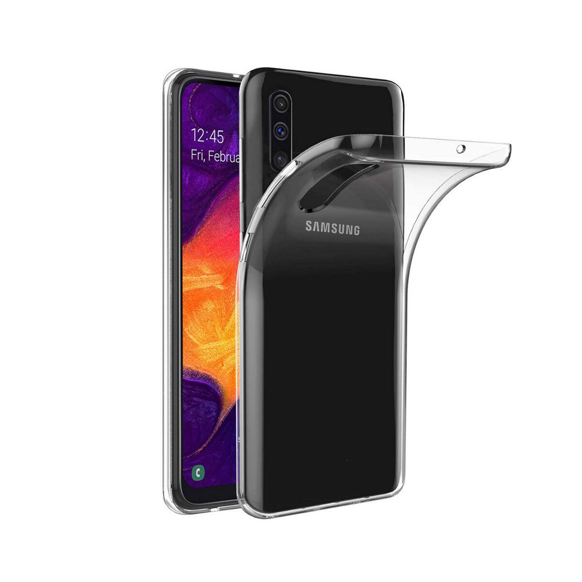 Colorfone Samsung A50s tok, Coolskin3T, átlátszó fehér
