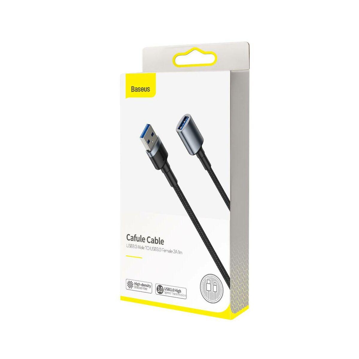 Baseus átalakító kábel, Cafule USB3.0[apa] -  USB3.0[anya] 2A, 1m, szürke (CADKLF-B0G)