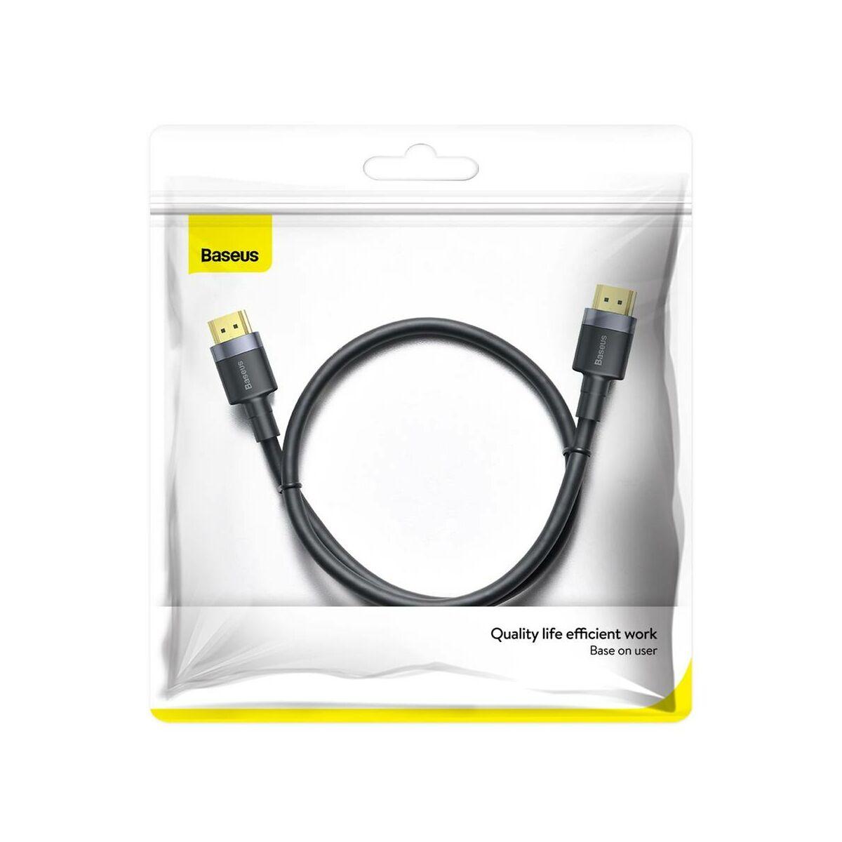 Baseus Video kábel, Cafule 4KHDMI [apa] - 4KHDMI [apa] 1m, fekete (CADKFL-E01)