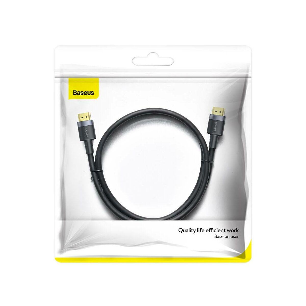 Baseus Video kábel, Cafule 4KHDMI [apa] - 4KHDMI [apa] 2m, fekete (CADKFL-F01)
