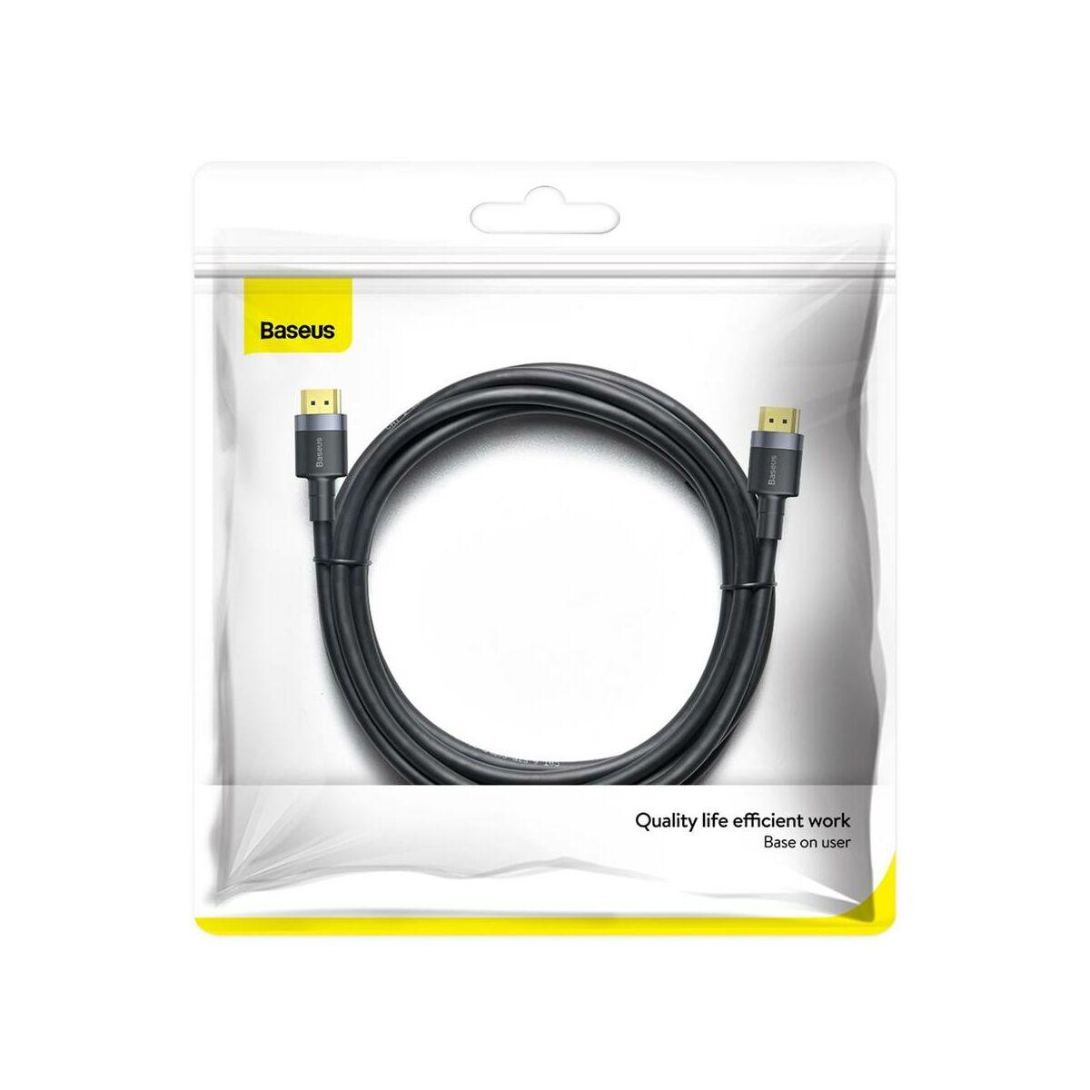 Baseus Video kábel, Cafule 4KHDMI [apa] - 4KHDMI [apa] 3m, fekete (CADKFL-G01)