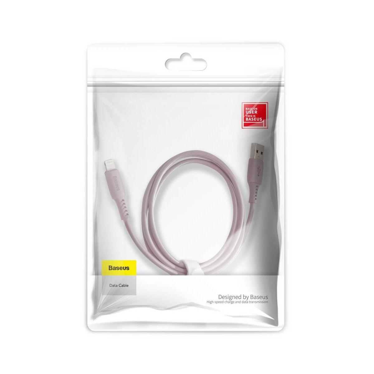 Baseus Lightning kábel, Colourful 2.4A, 1.2m, rózsaszín (CALDC-04)