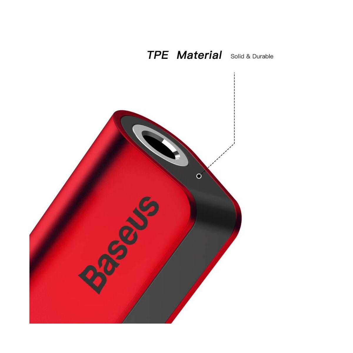 Baseus átalakító, L32 Lightning[apa] - 3.5 mm + Lightning[anya] adapter, piros (CALL32-09)