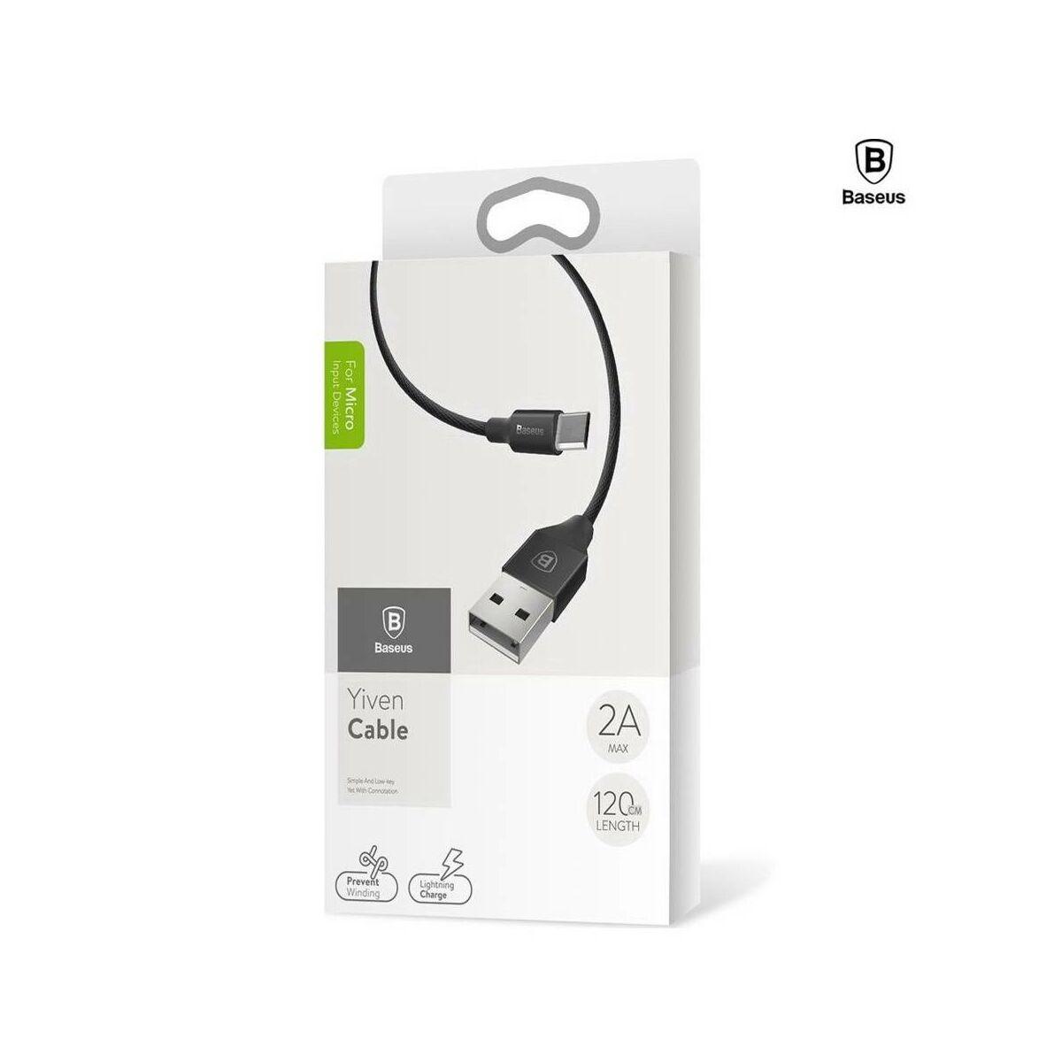 Baseus Micro USB kábel, Yiven kábel, 2A, 1m, fekete (CAMYW-A01)