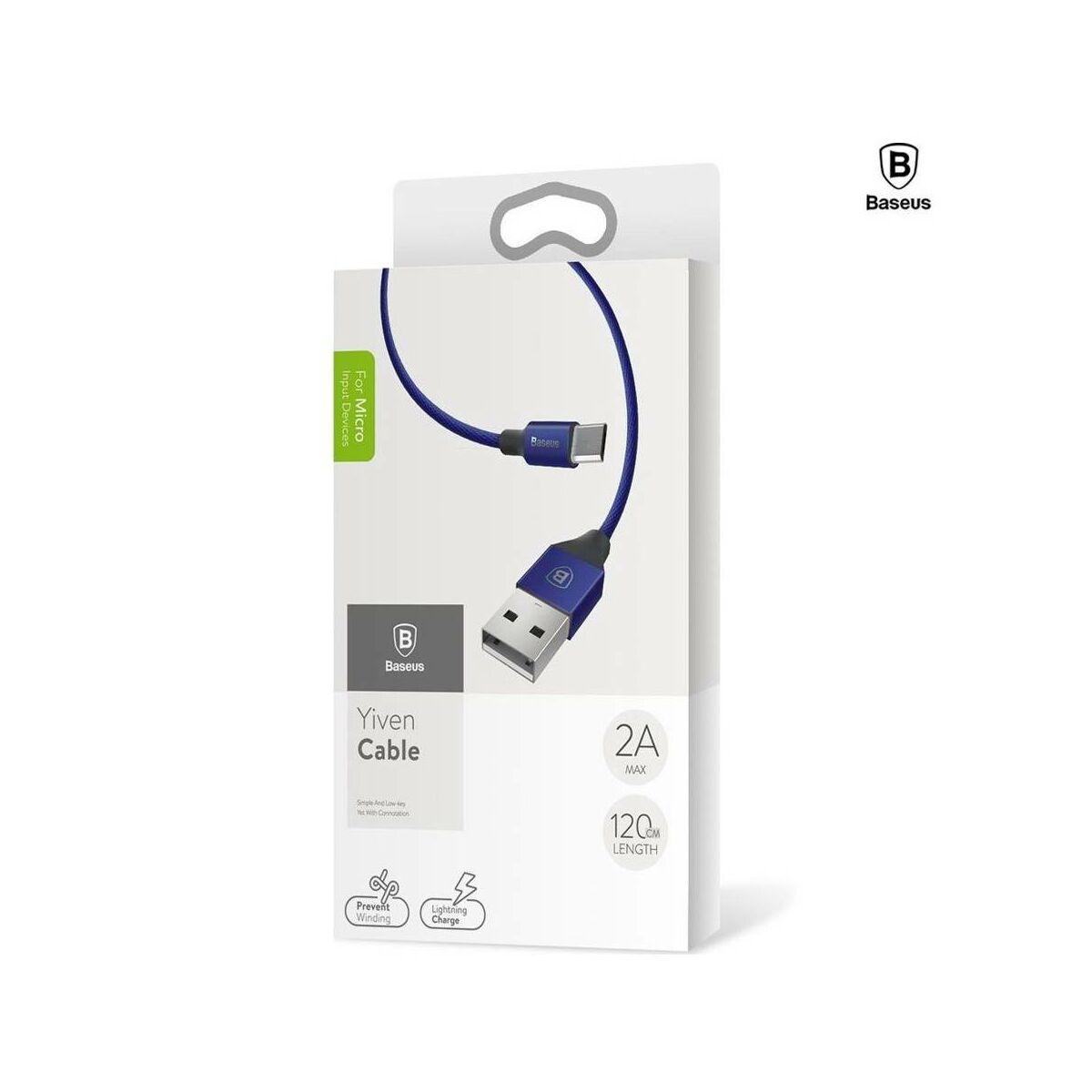 Baseus Micro USB kábel, Yiven kábel, 2A, 1m, sötétkék (CAMYW-A13)