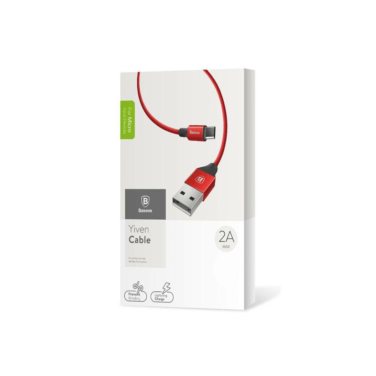 Baseus Micro USB kábel, Yiven kábel, 2A, 1.5m, piros (CAMYW-B09)