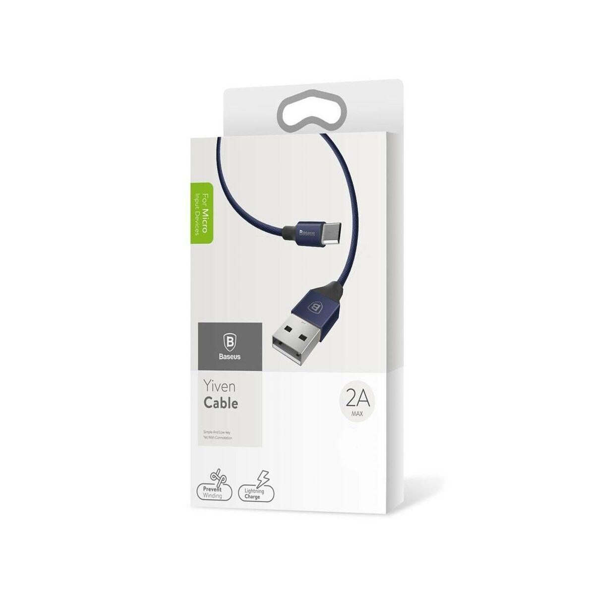 Baseus Micro USB kábel, Yiven kábel, 2A, 1.5m, sötétkék (CAMYW-B13)