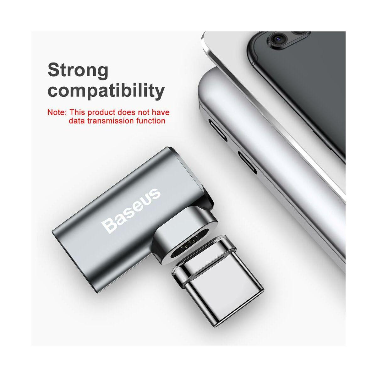 Baseus Type-C Mini Elbow mágneses Type-C Elbow adapter átalakító, szürke (CATCX-0G)