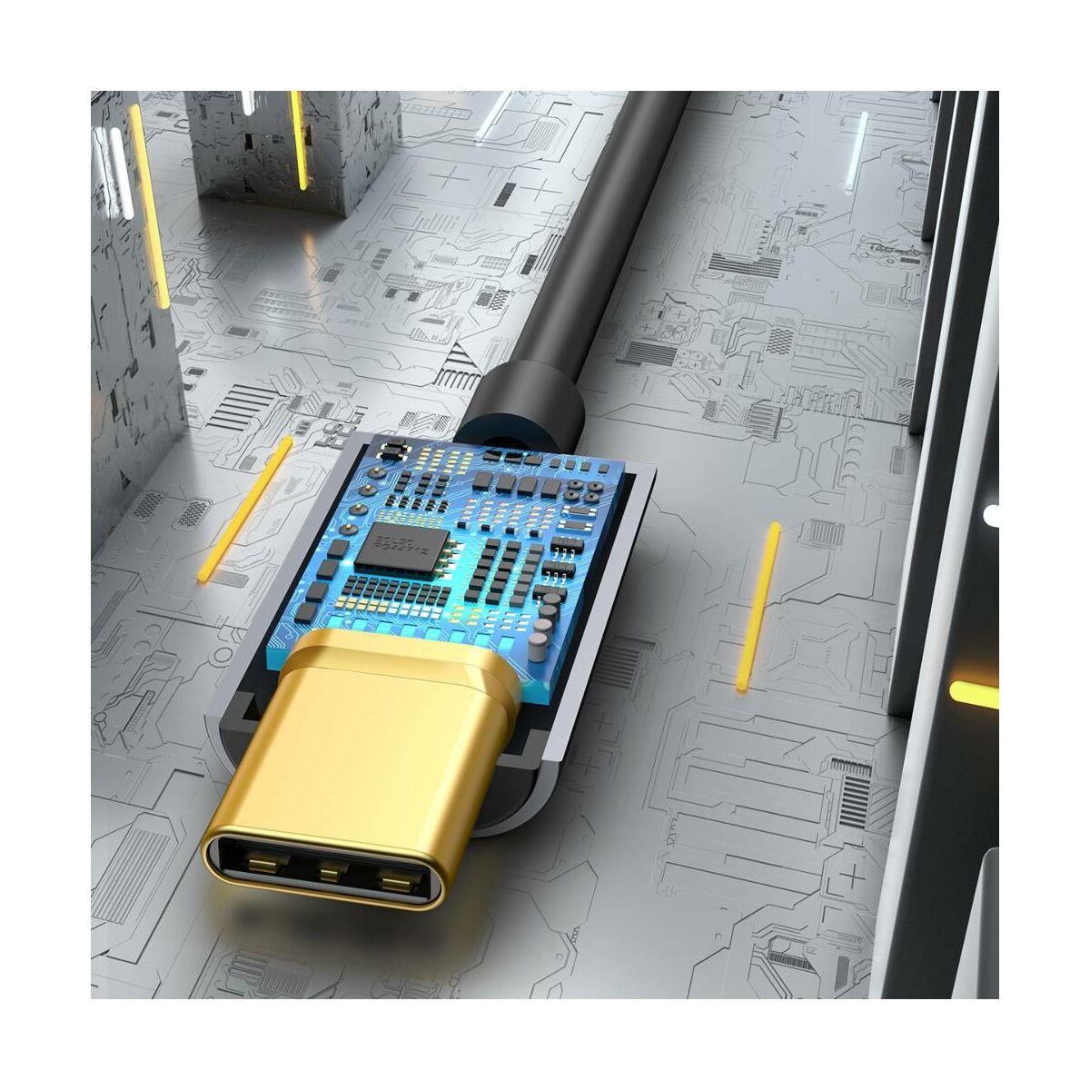 Baseus átalakító, L54 Type-C [apa] - 3.5mm [anya] adapter, szürke (CATL54-0G)