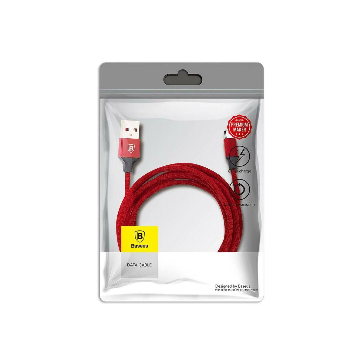 Baseus Type-C kábel, Yiven, 3A, 1.2m, piros (CATYW-09)