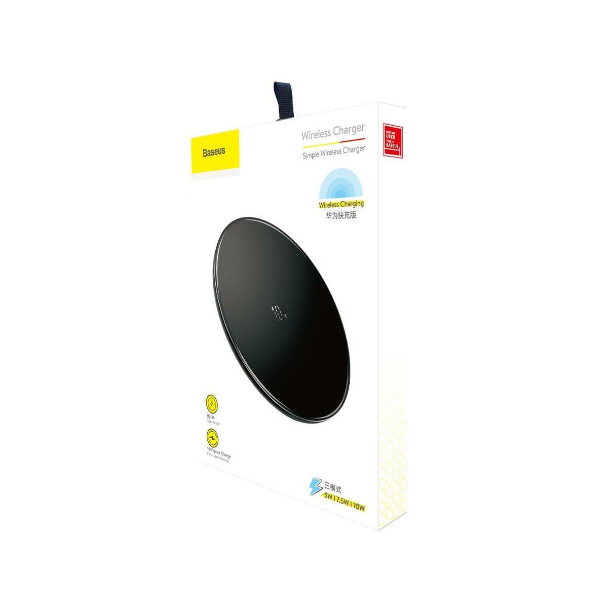 Baseus vezeték nélküli töltő, 10W, fekete (CCALL-CJK01)