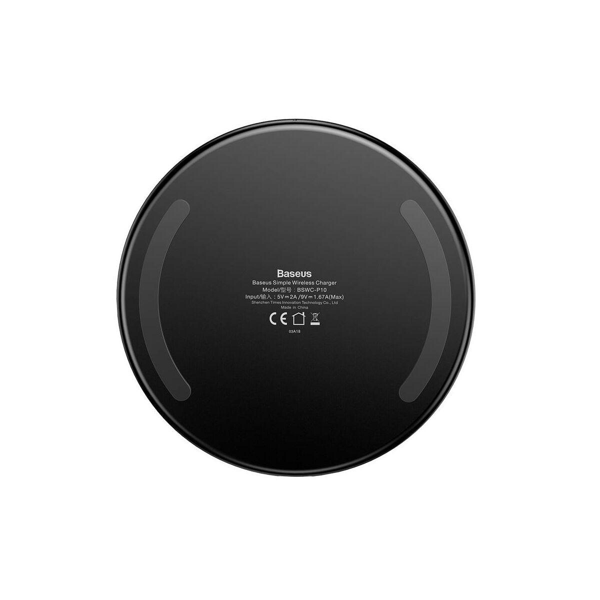 Baseus vezeték nélküli töltő 10W, fekete (CCALL-JK01)