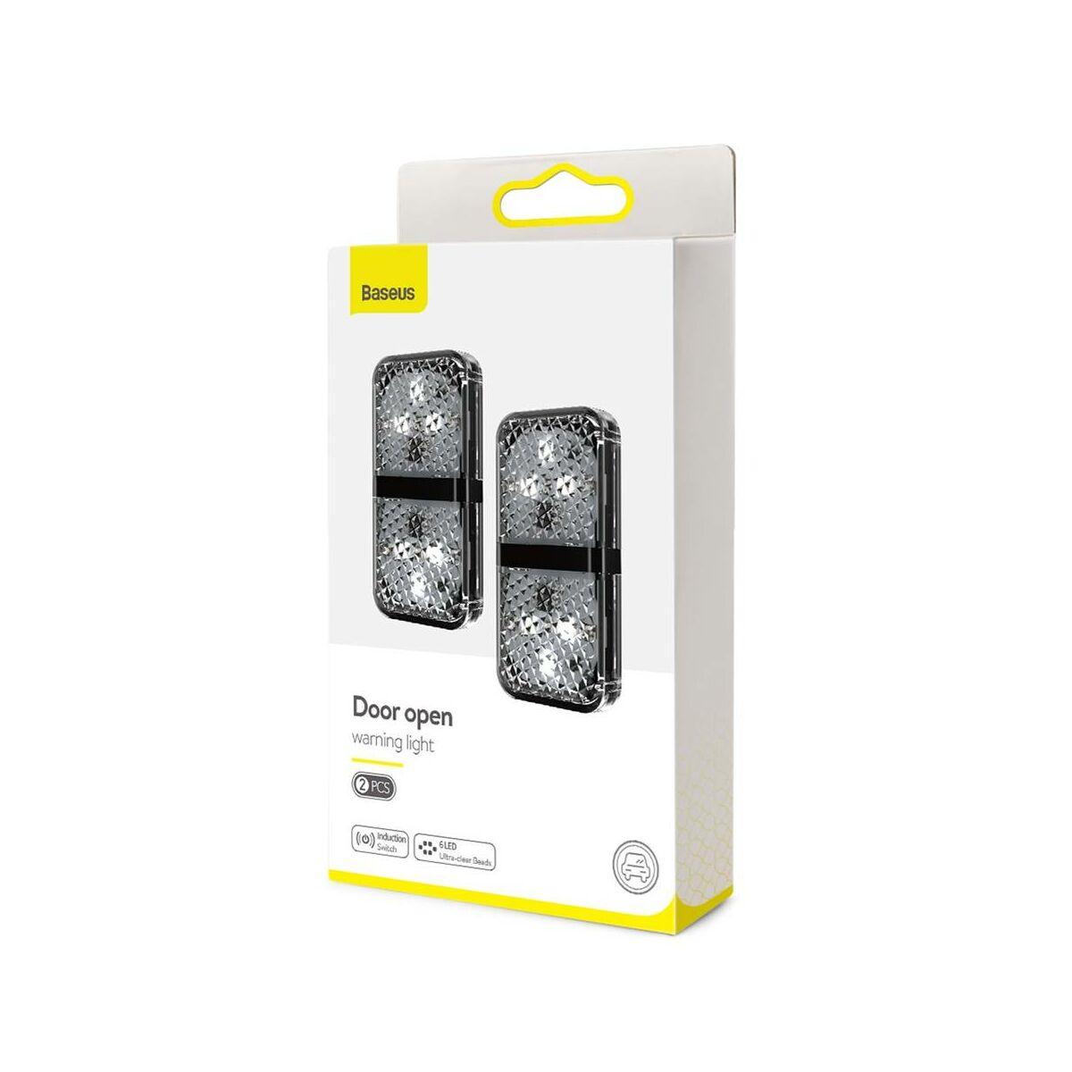 Baseus autós kiegészítő, nyitott ajtó fény visszajelző (2db / csomag), fekete (CRFZD-01)
