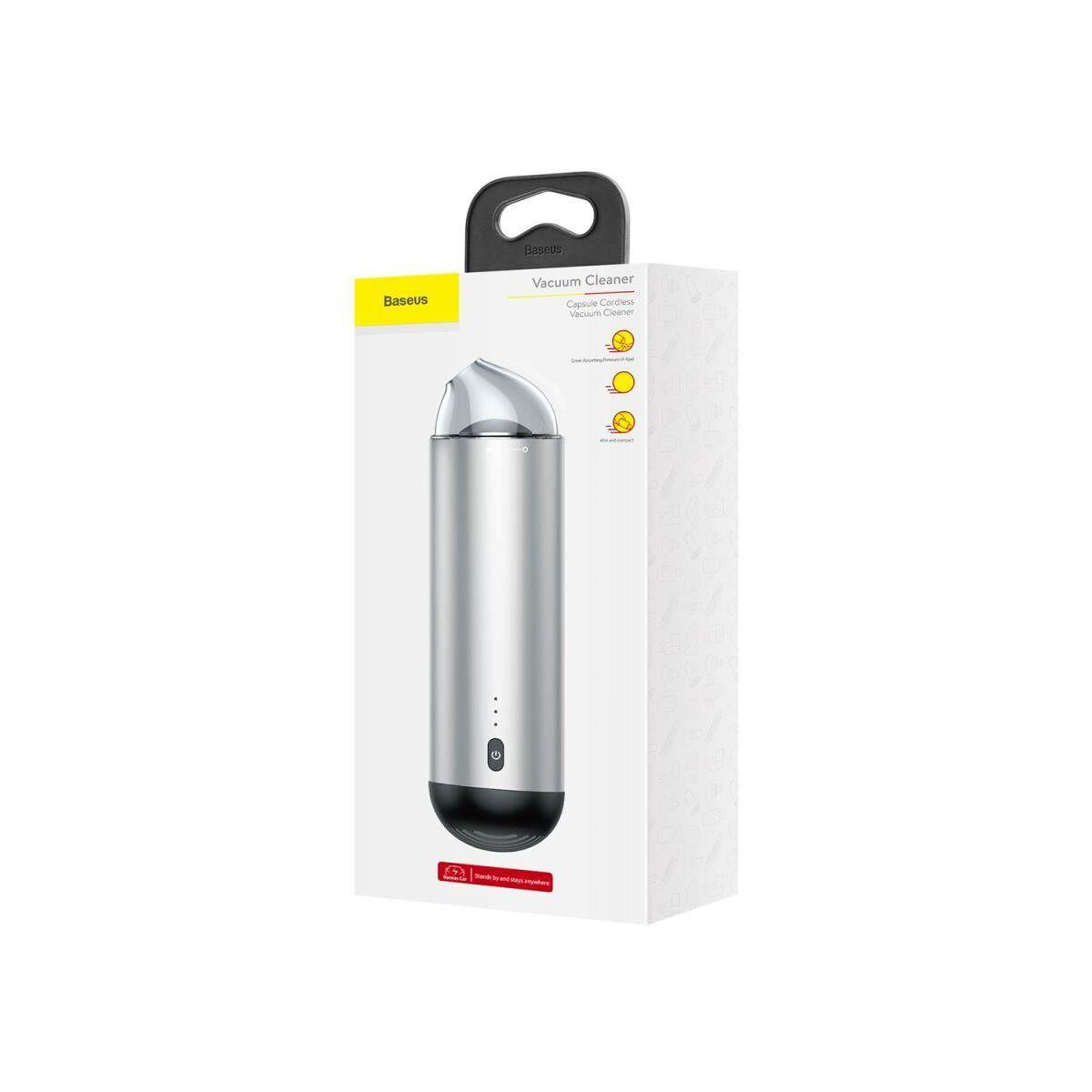Baseus porszívó vezeték nélküli Capsule Cordless, ezüst (CRXCQ01-0S)
