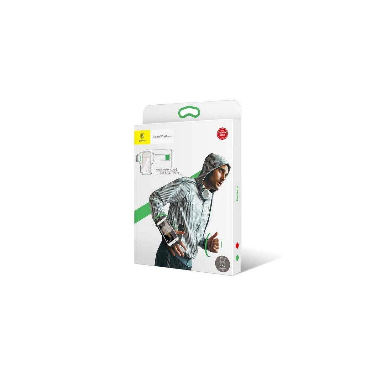 """Baseus állítható sport csukló tok, 5.8""""-ig, fekete/zöld (CWYD-B06)"""