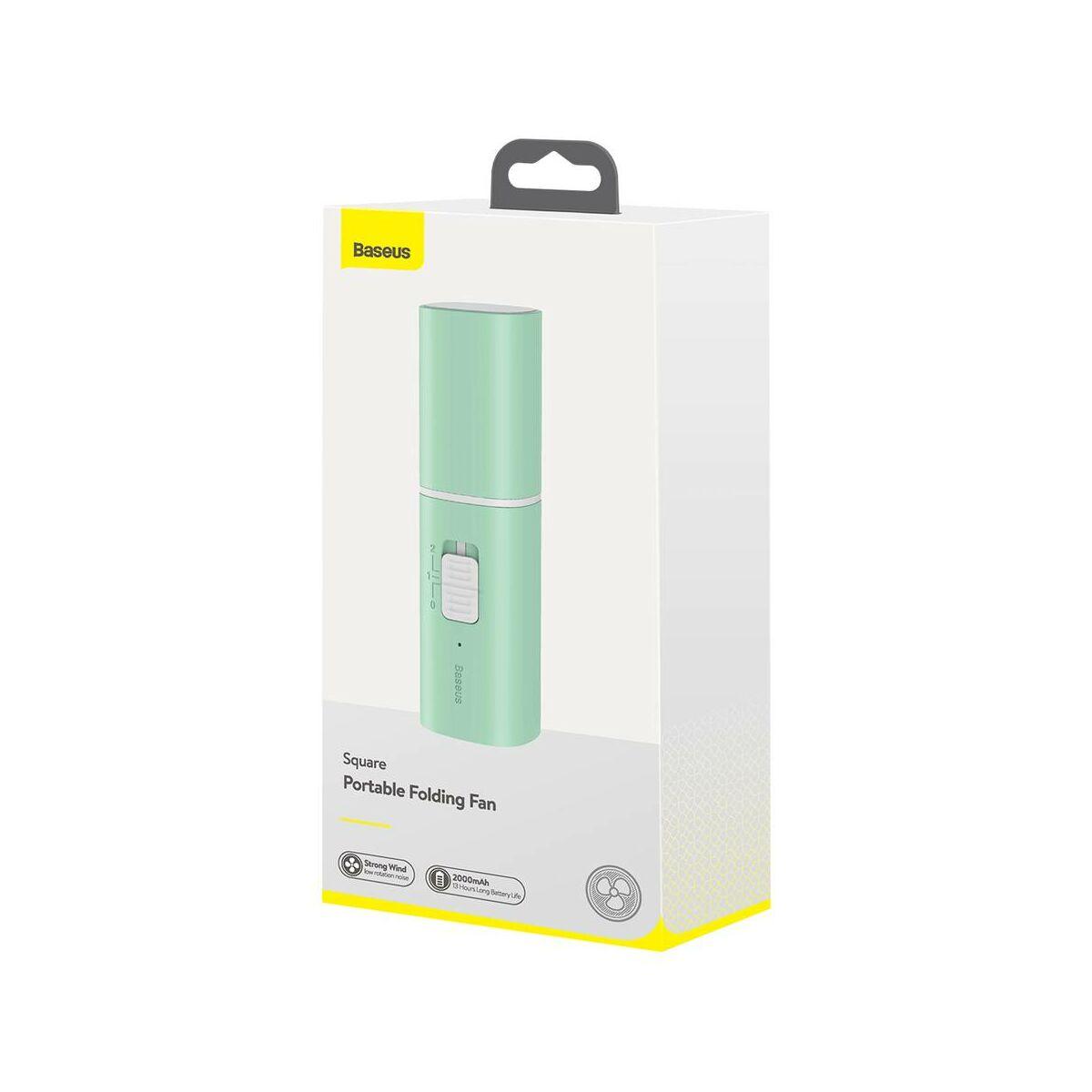 Baseus ventilátor, hordozható, Square, összehajtható, 2000 mAh, 1.1W, zöld (CXZD-B06)