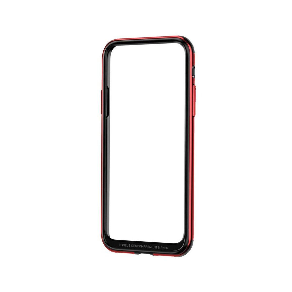 Baseus iPhone X Platinum Metal Border bumper tok, piros (FRAPIPHX-B09)