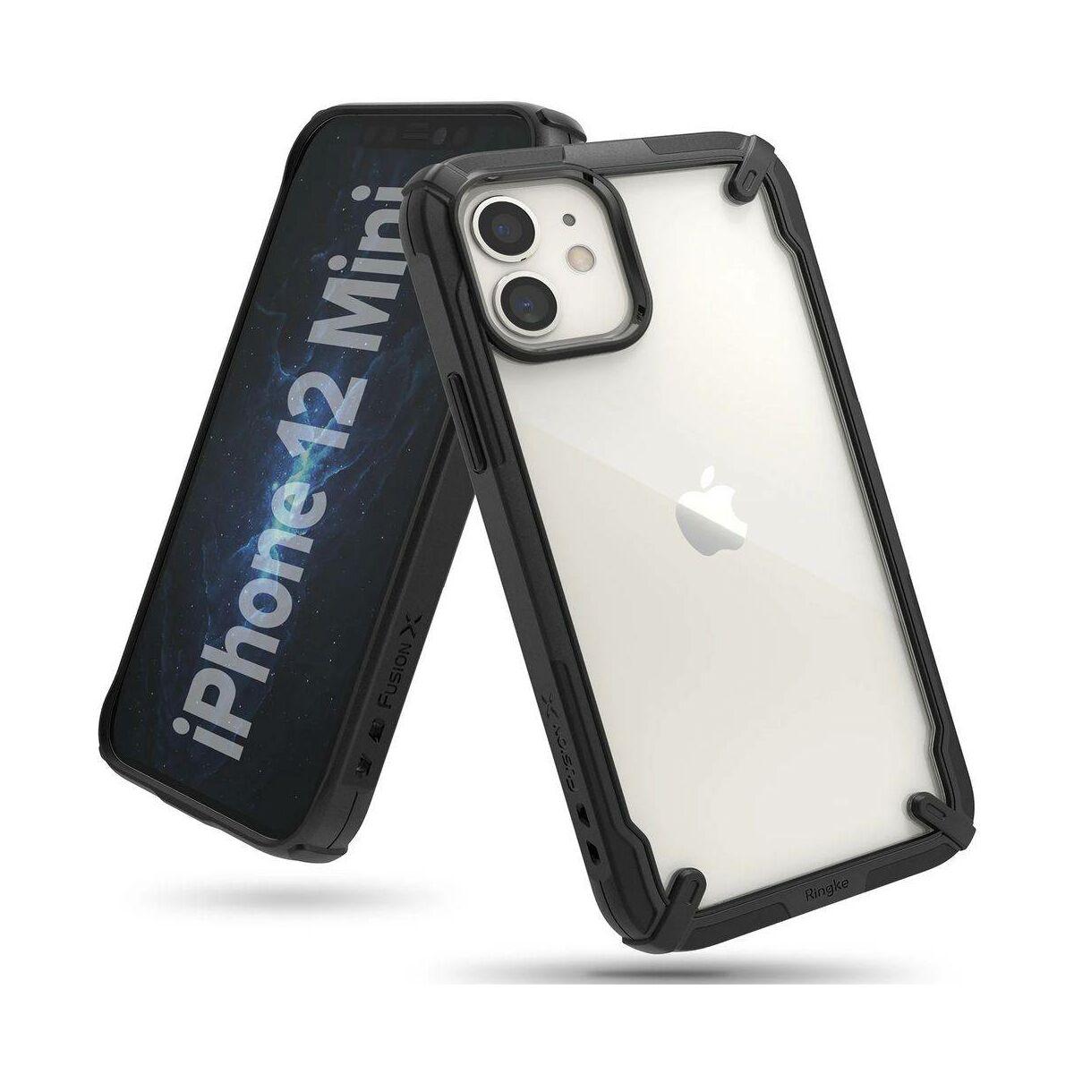 Ringke iPhone 12 mini tok, Fusion X, Fekete