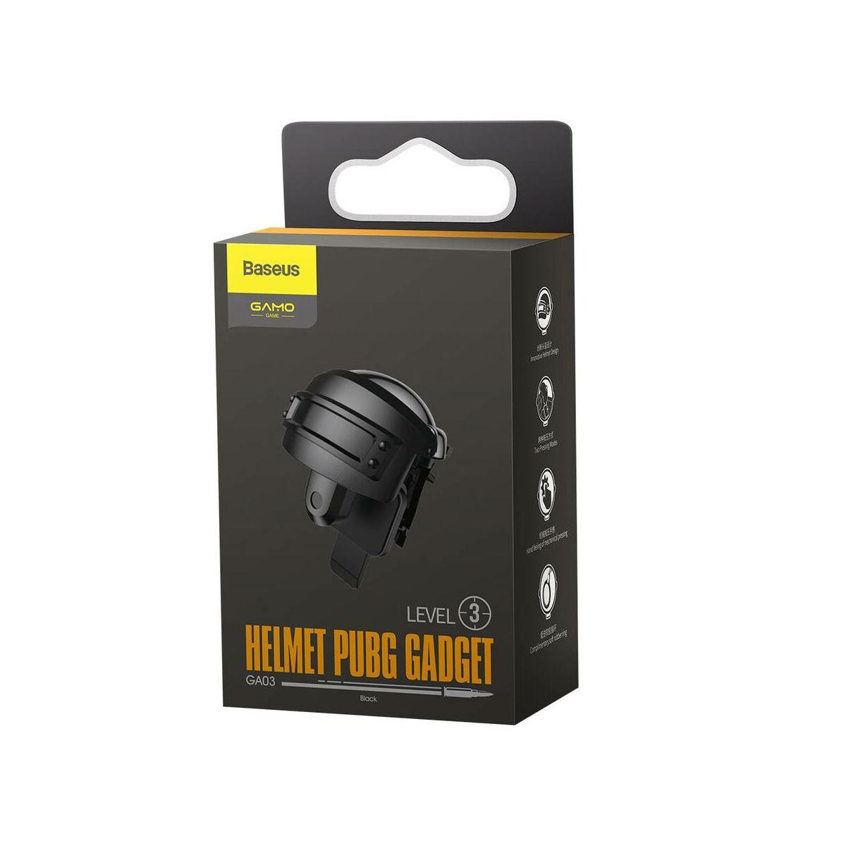 Baseus játék eszköz, Sisak forma, Level 3 PUBG Gadget GA03, fekete (GMGA03-A01)