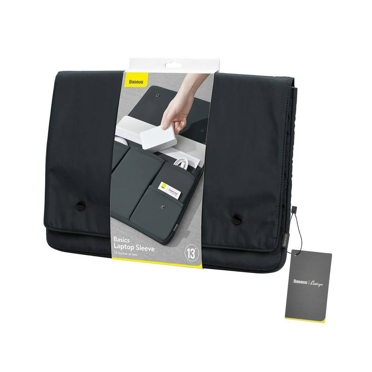 Baseus kézi táska, Basics series, laptop táska (13 inch, 315 x 230 x 20 mm), szürke (LBJN-A0G)