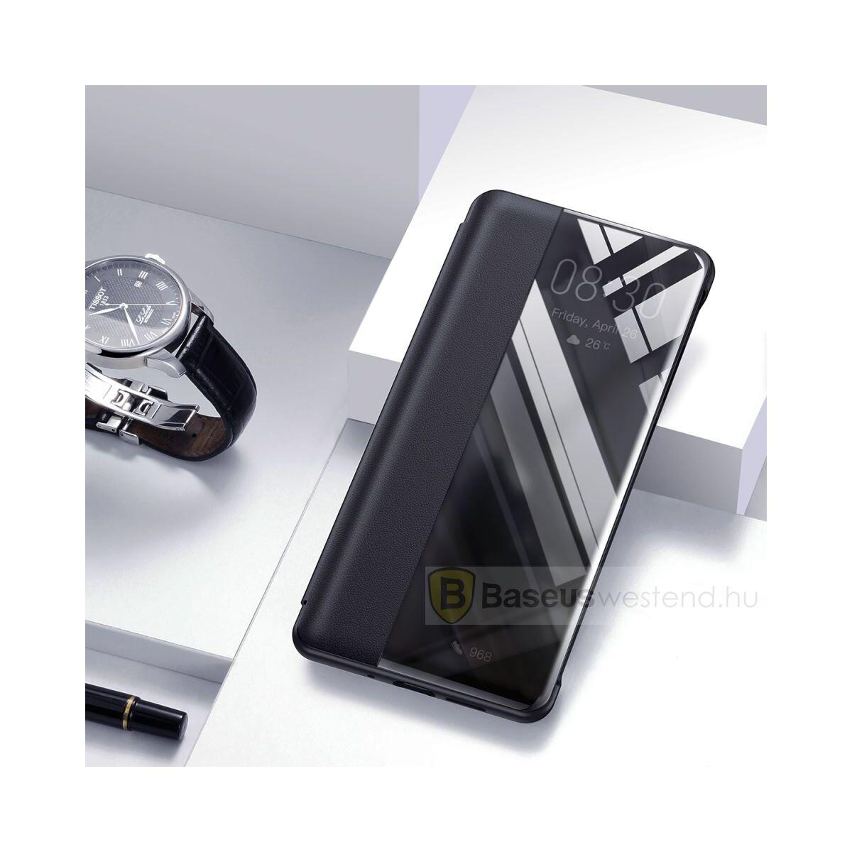Baseus Huawei P30 Original Intelligent Window kihajtható, flip tok, fekete (LTHWP30-YP01)