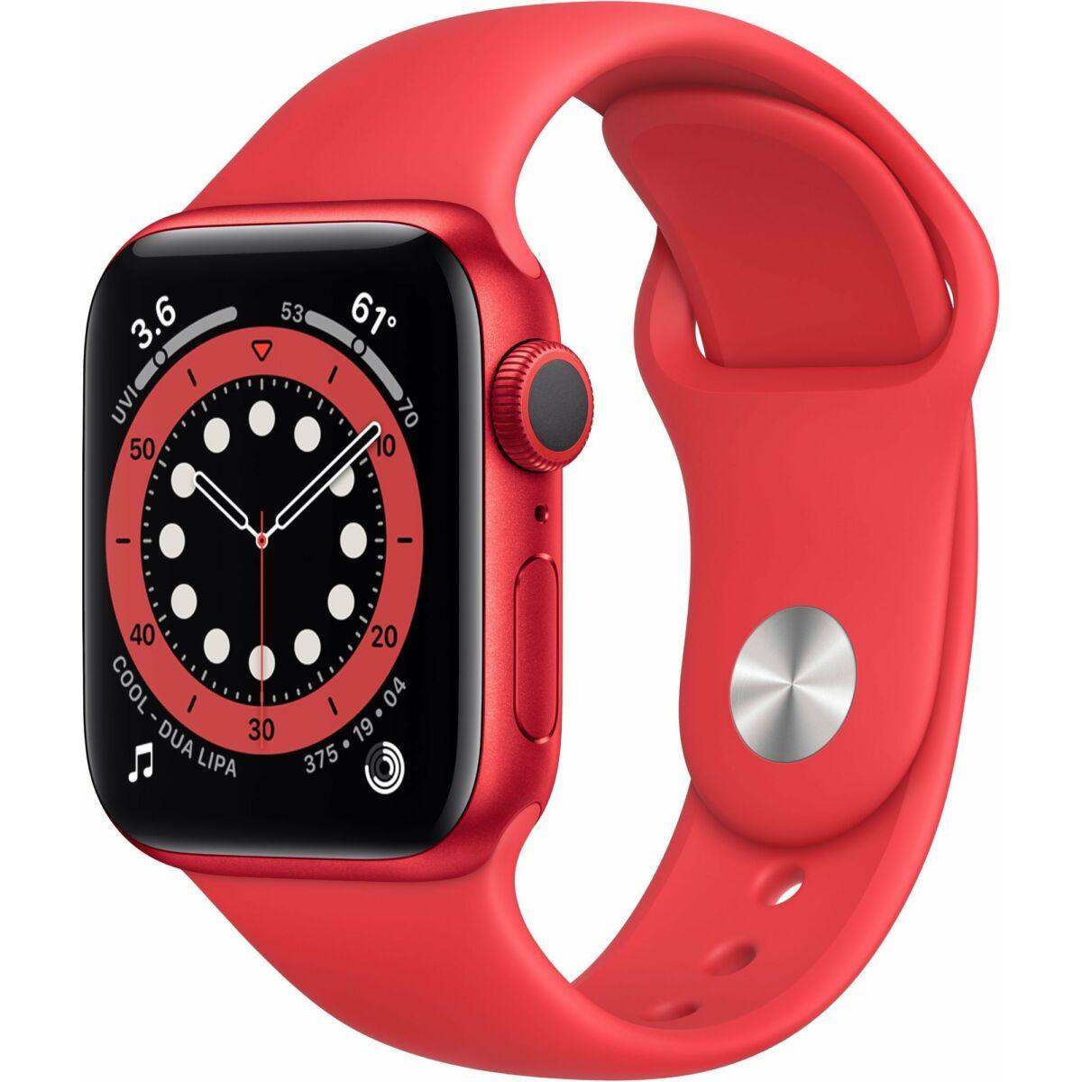 Apple Watch Series 6 GPS 44mm piros alumínium , piros sport szíj EU M00M3