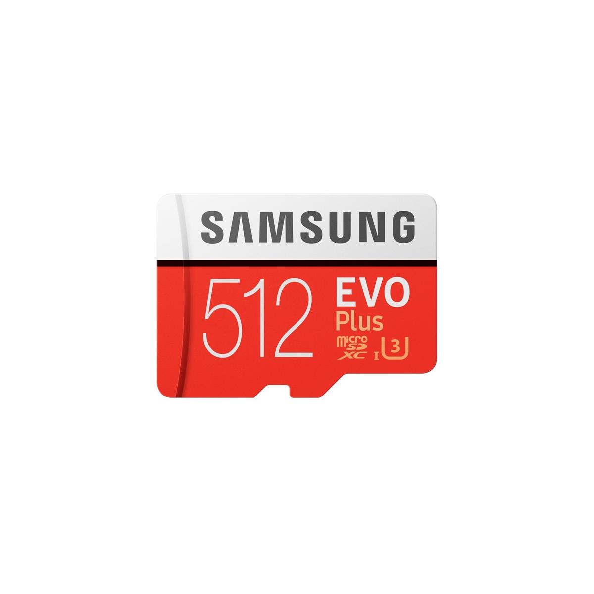 Samsung MicroSD Kártya EVO+ 512GB Class10 + Adapter MB-MC512HA/EU