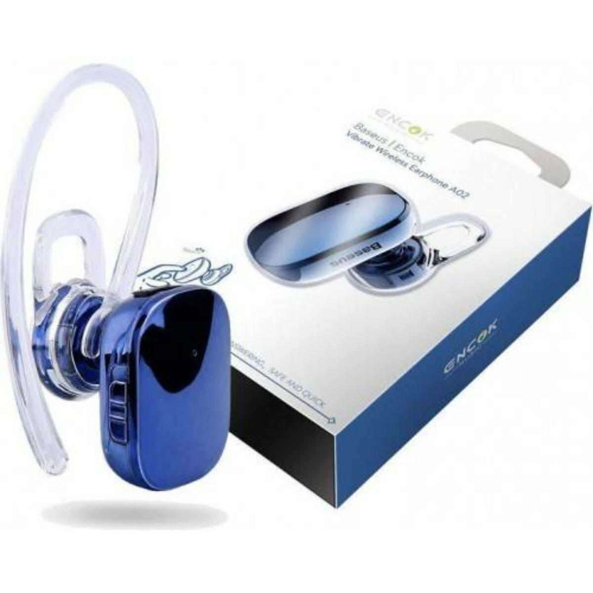 Baseus fülhallgató, Bluetooth Encok A02 Mini vezeték nélküli, kék (NGA02-03)