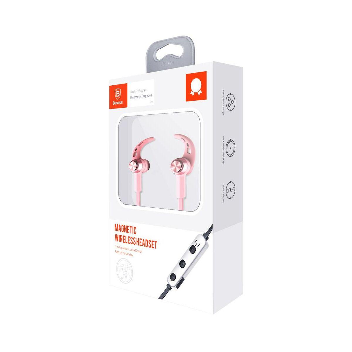 Baseus fülhallgató, Bluetooth Encok B11 Licolor Magnet vezeték nélküli, szakura rózsaszín (NGB11-04)
