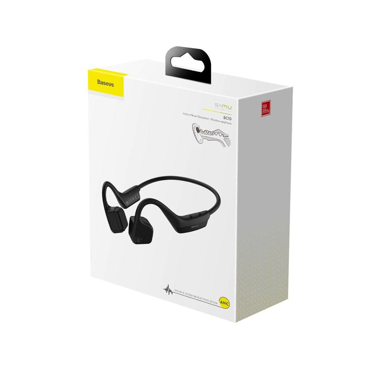 Baseus fülhallgató, Bluetooth Encok S17, fekete (NGBC10-01)