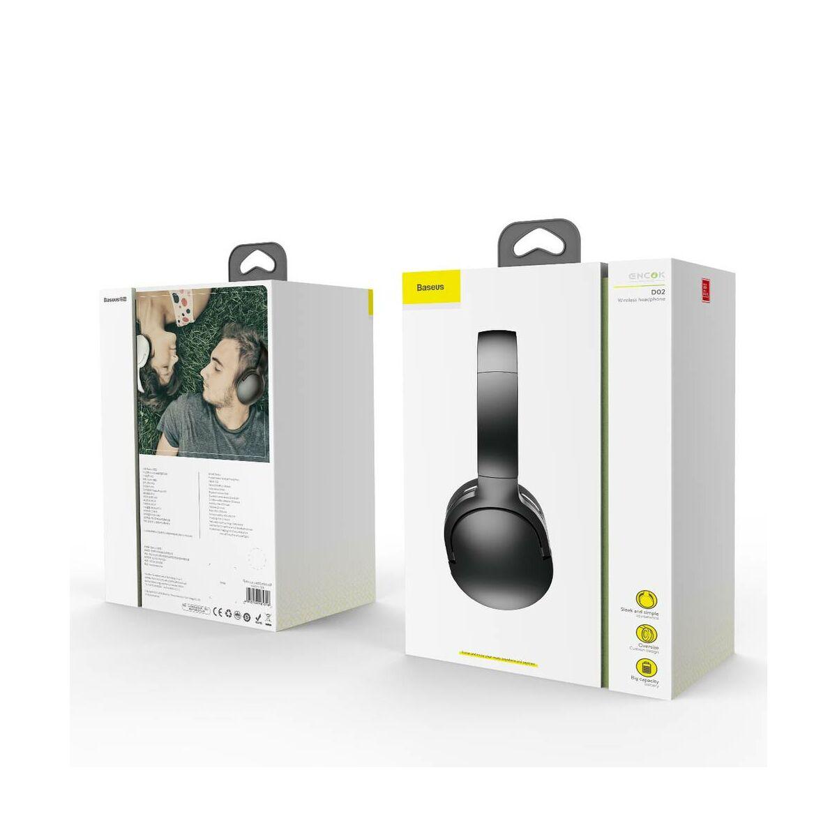 Baseus fejhallgató, Bluetooth Encok D02, vezeték nélküli, fekete (NGD02-01)
